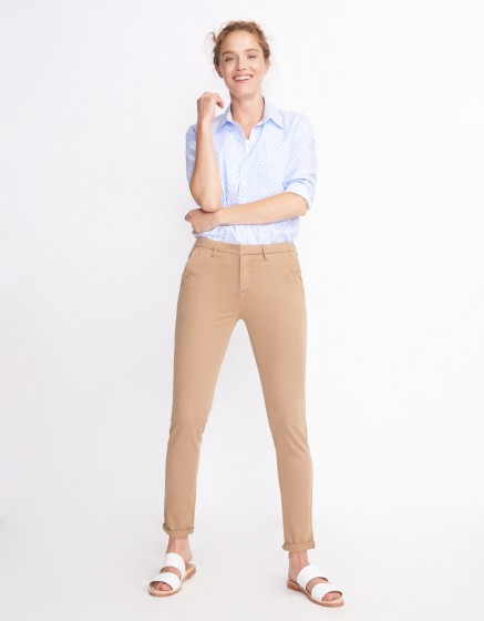 Pantalon chino Sandy Basic 2 - MOKA