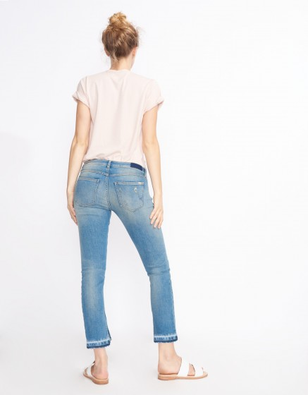 Jean straight cropped Lea M-63 - DENIM M-63