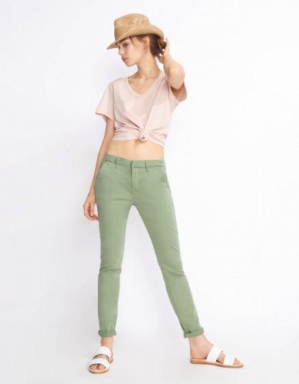 Chino Trousers Sandy Basic 2 - MILITARY GREEN