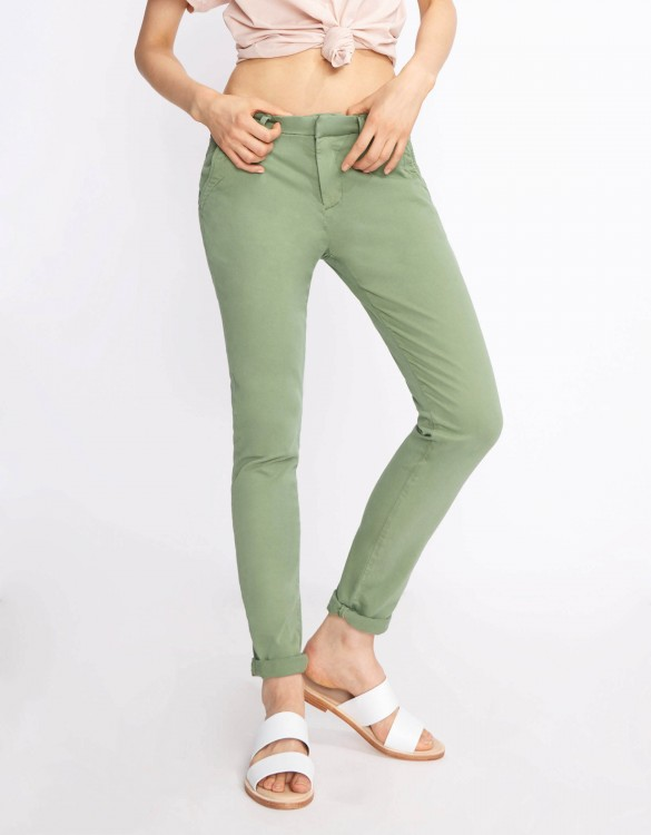 Chino Trousers Sandy Basic 2 - MILITARY GREEN