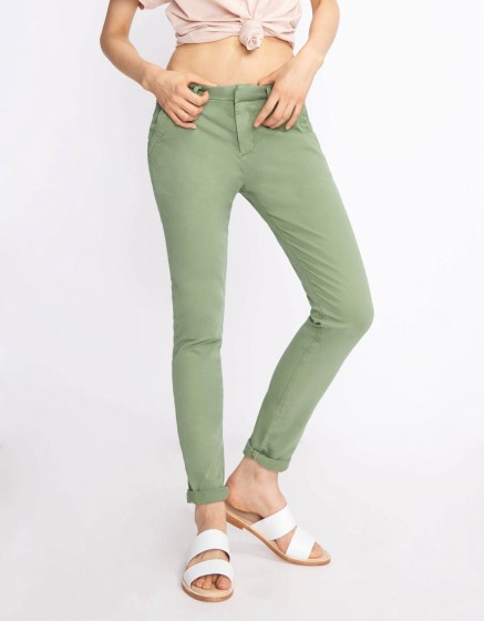 Pantalon chino Sandy Basic 2 - MILITARY GREEN