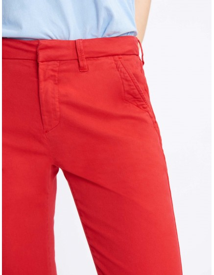 Pantalon chino Sandy Basic 2 - VERMILLON