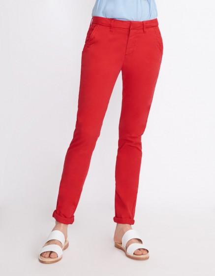 Pantalon chino Sandy Basic 2 - VERMILLON