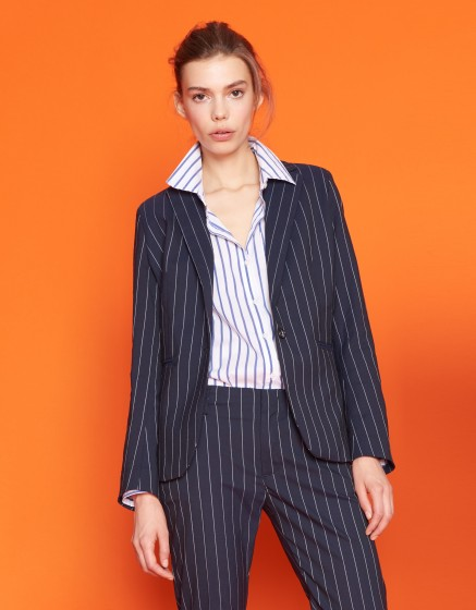 Veste blazer Birkin Fancy - STRIPES NAVY