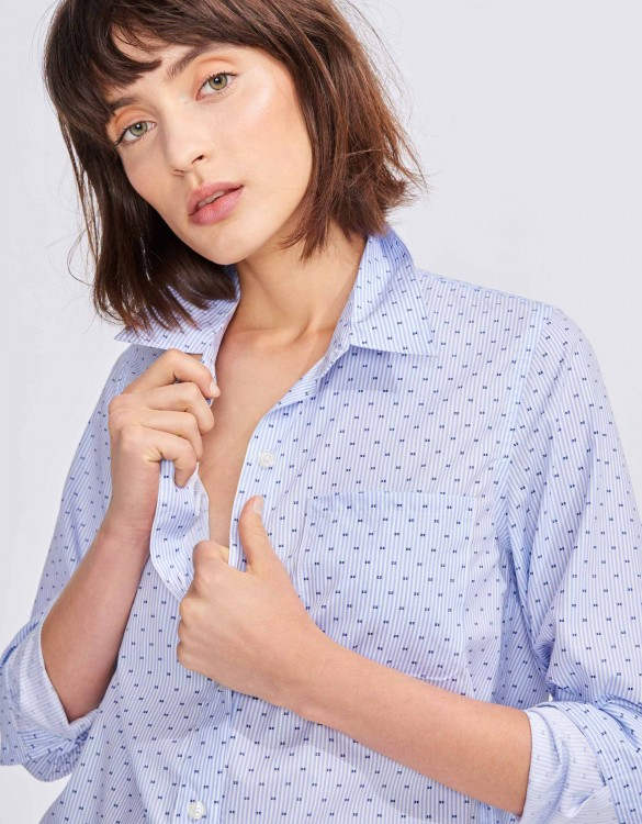 Shirt Carl Printed - DOTS NAVY