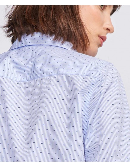 Chemise Carl Printed - DOTS NAVY