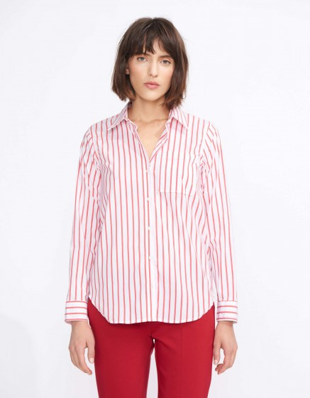 Chemise Carl Stripes - RED