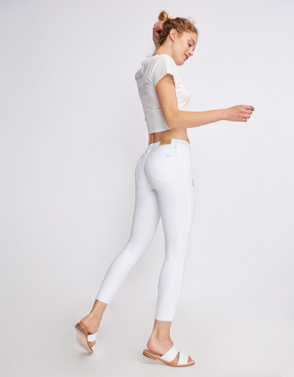 Skinny cropped jean Lily - DENIM WHITE