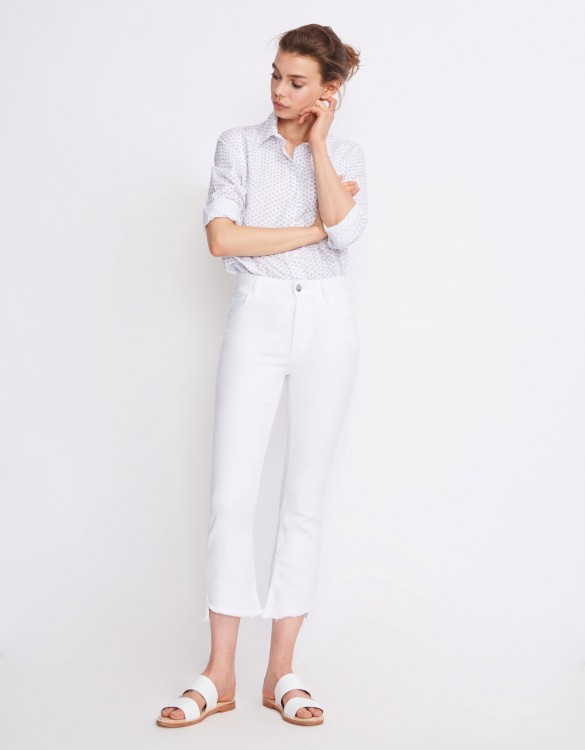 Straight cropped jean Lottie - DENIM WHITE