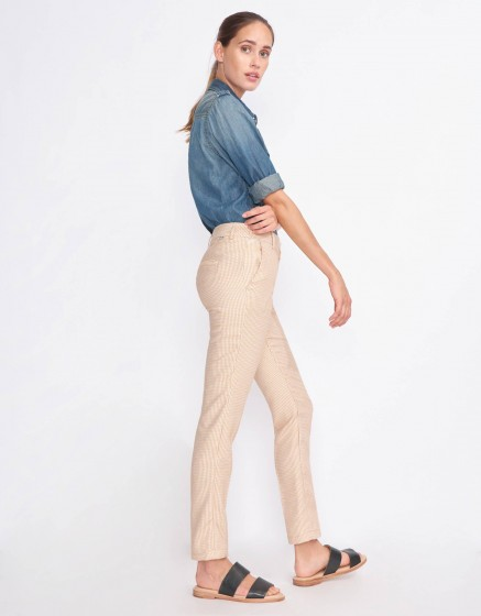 Cigarette Trousers Lizzy Fancy - TILES YELLOW