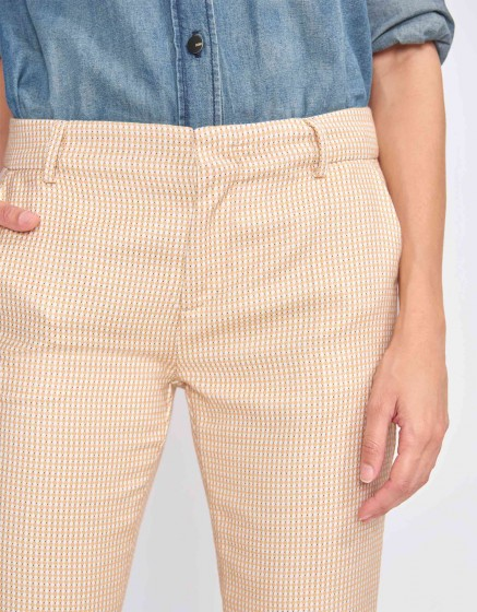 Pantalon cigarette Lizzy Fancy - TILES YELLOW