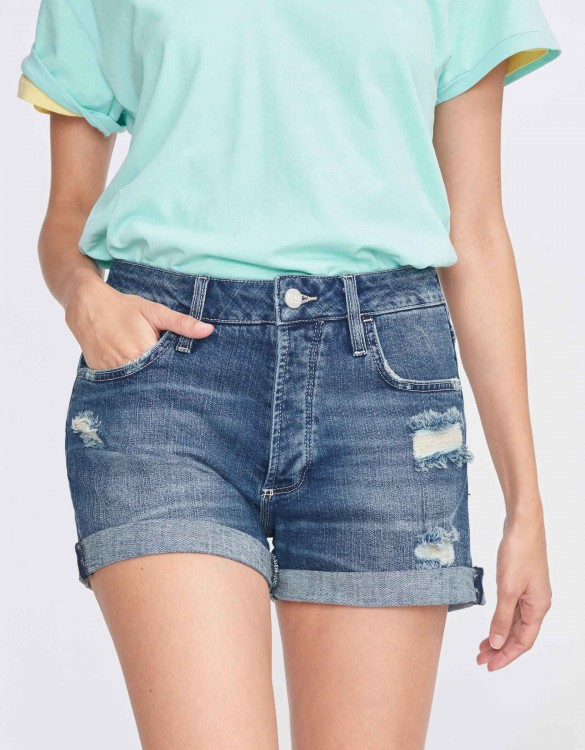 Short boyfriend Sarah - DENIM M-51