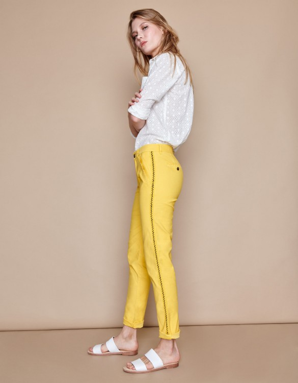 Chino Trousers Sandy Herring - MUSTARD