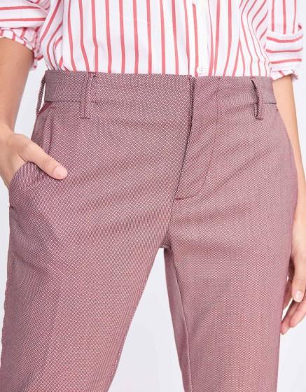 Cigarette Trousers Lizzy Fancy - VINYLE VERMILLON