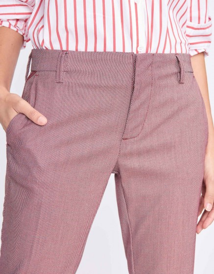 Pantalon cigarette Lizzy Fancy - VINYLE VERMILLON