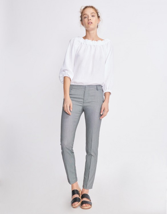 Cigarette Trousers Lizzy Fancy - HONEY