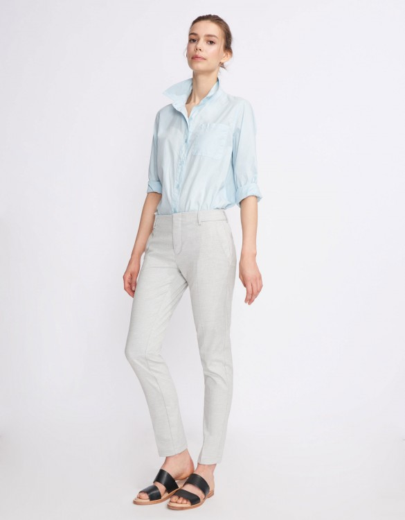 Cigarette Trousers Lizzy Fancy - CLOUDY