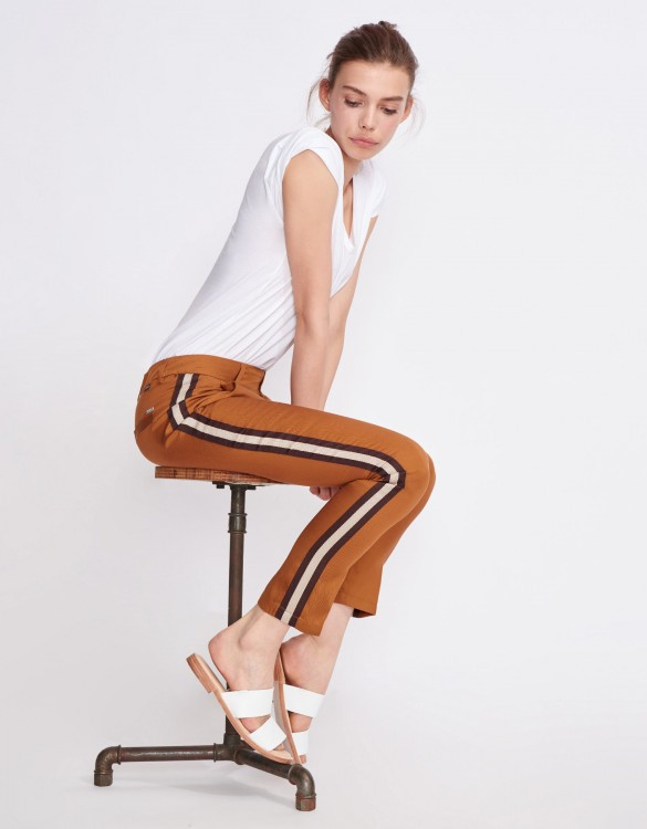 Cigarette Trousers Lizzy Herring - BROWN SUGAR