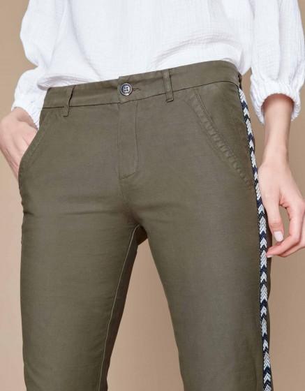 Chino Trousers Sandy Herring - KAKI
