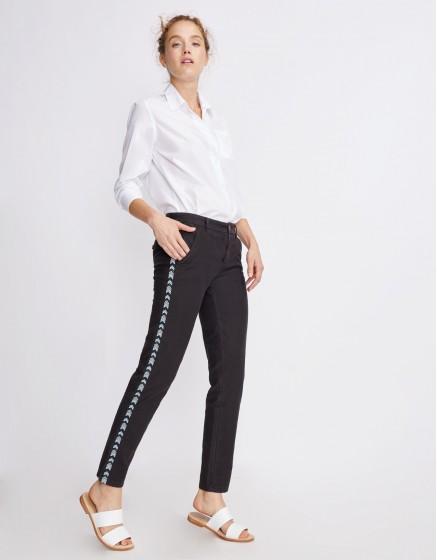 Pantalon chino Sandy Herring - CARBONE