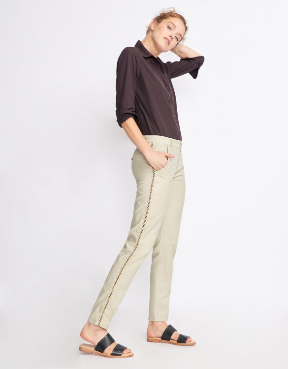 Chino Trousers Sandy Herring - CREAM