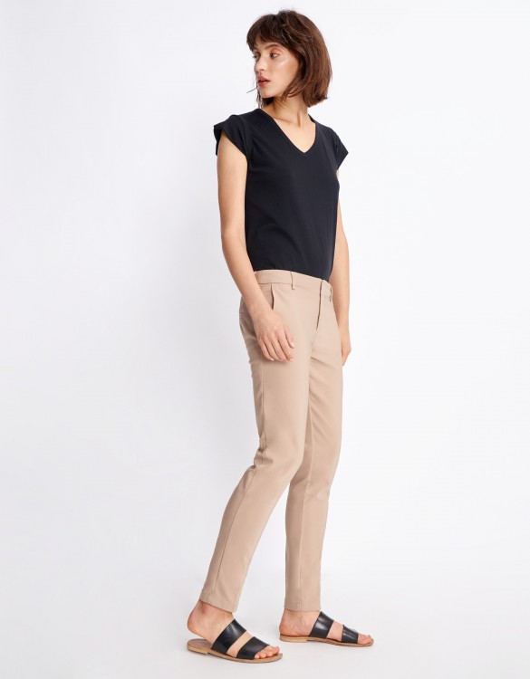 Pantalon Cigarette Lizzy Color - MOKA