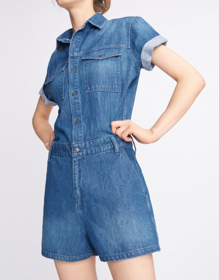 Denim jumpsuit Catline - DENIM BLUE