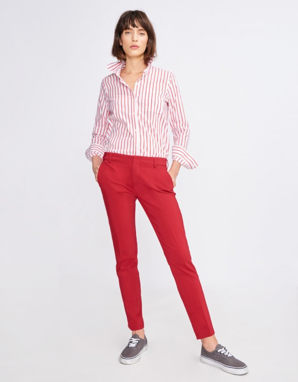 Cigarette Trousers Lizzy Color - CHILI PEPPER