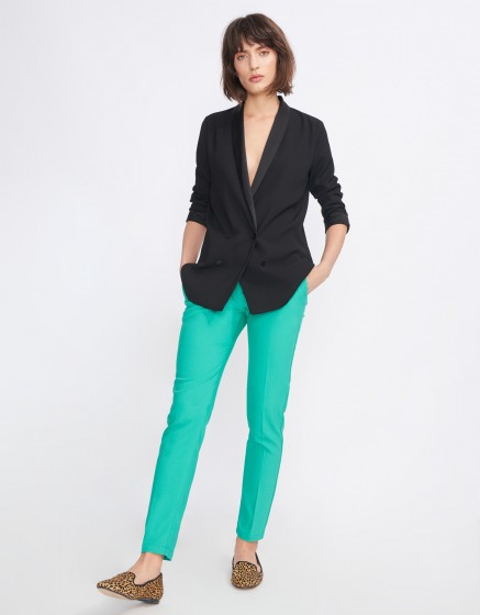 Pantalon Cigarette Lizzy Color - POOL GREEN