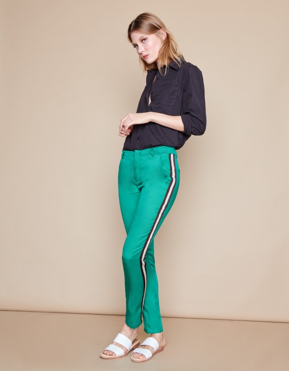 Cigarette Trousers Lizzy Herring - CHLOROPHYLE