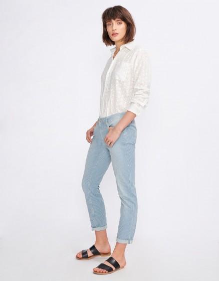 Boyfriend trousers Nina Stripes - UNIQUE