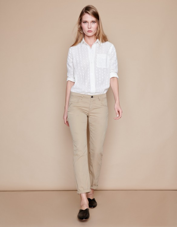 Boyfriend trousers Nina Color - BEIGE