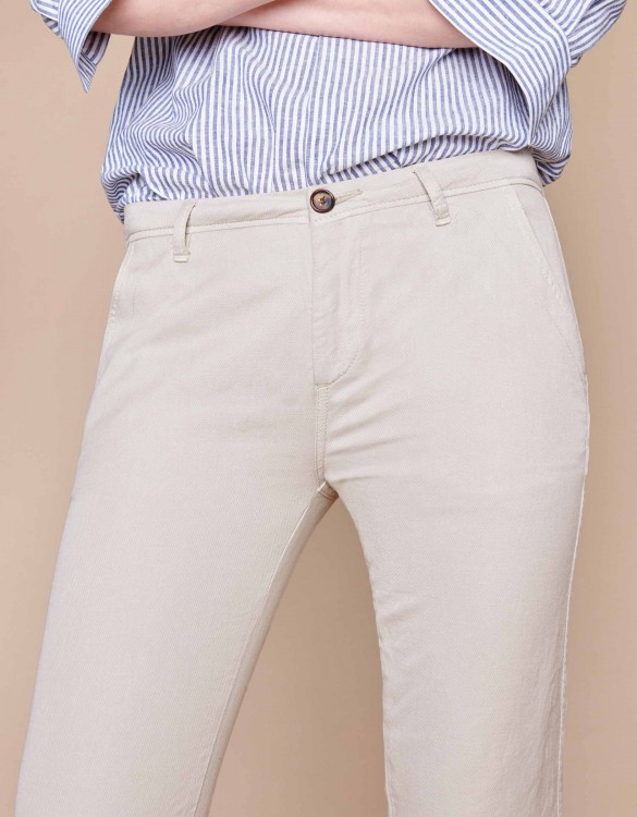 Chino trousers Pam Linen - CREAM
