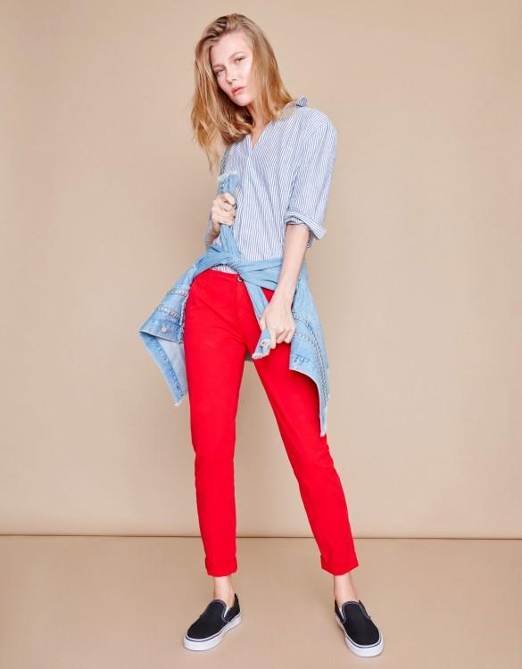 Pantalon chino Pam - VERMILLON