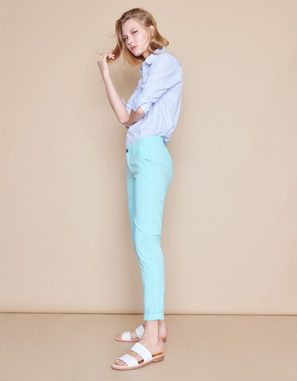 Pantalon chino Pam - ICY MINT