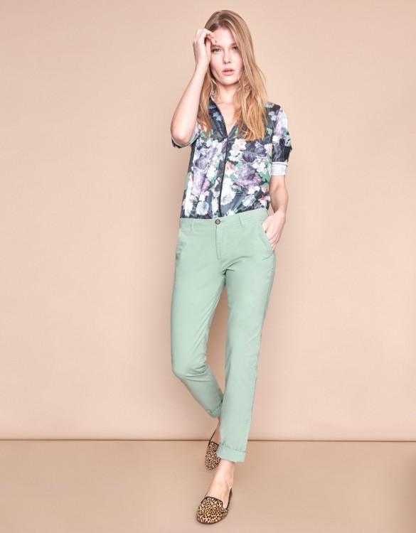 Chino trousers Pam - VERT JADE