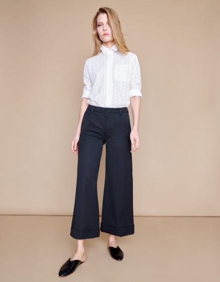 Pantalon wide cropped Paolo - STATES BLACK