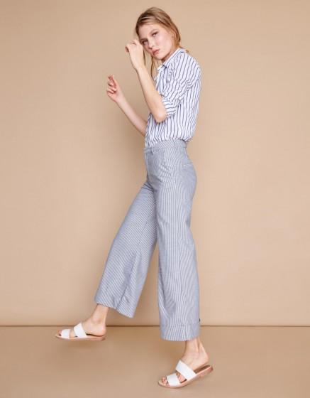 Pantalon wide cropped Paolo - MEZZO