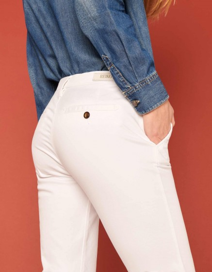 Pantalon chino Sandy 2 Basic - WHITE