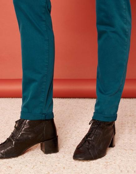 Pantalon chino Sandy 2 Basic - BLEU PETROLE