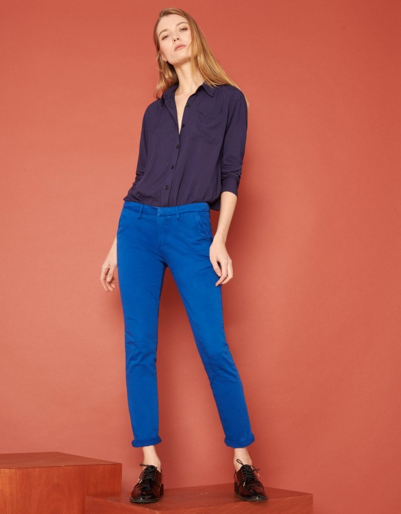 Pantalon chino Sandy 2 Basic - VICTORIAN BLUE