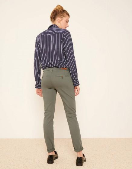 Pantalon chino Sandy 2 Basic - VERT ACIER