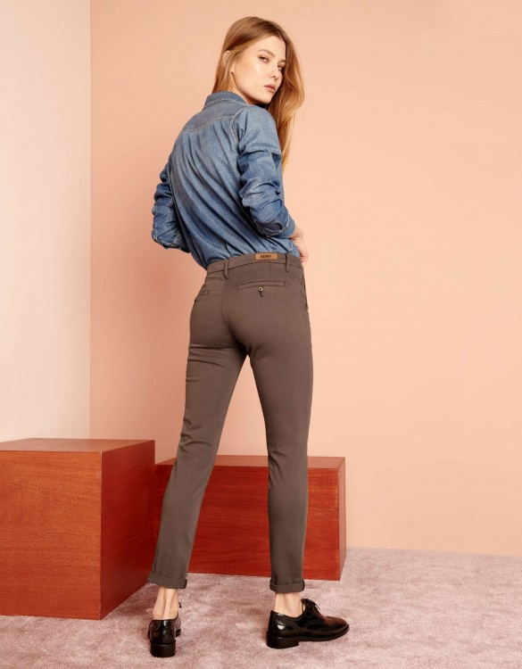 Chino Trousers Sandy 2 Basic - SEPIA