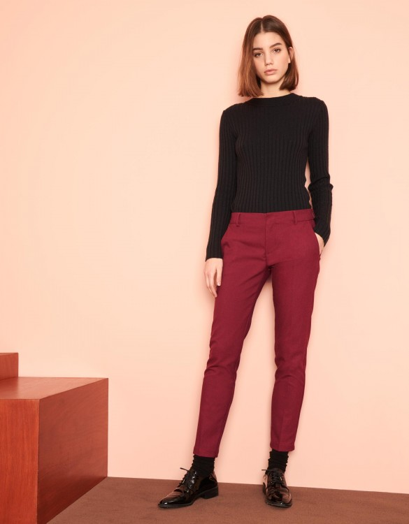 Cigarette Trousers Lizzy Fancy - RED BERRY