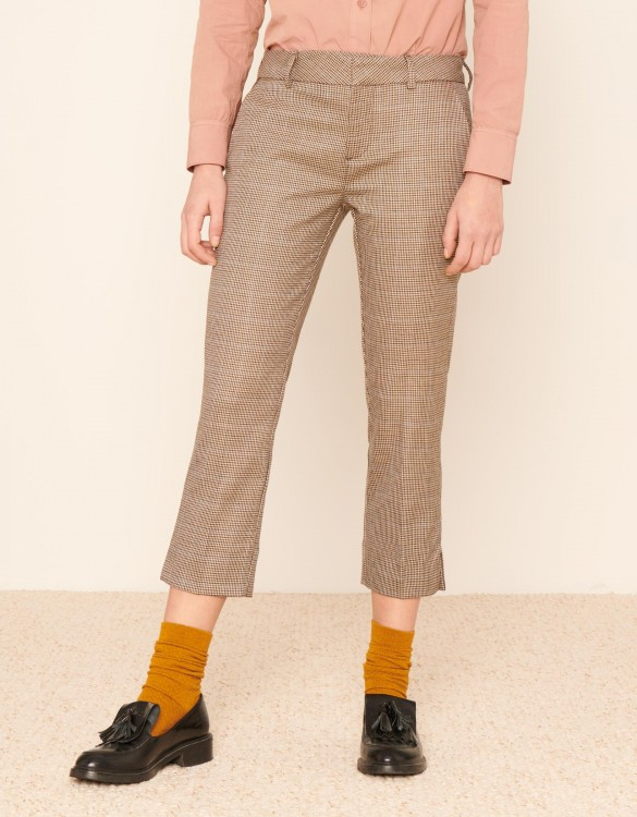 Cigarette cropped trousers Laura Fancy - SCOTTISH