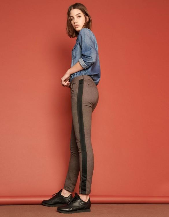 Chino Trousers Sandy Fancy - HERRING MESH