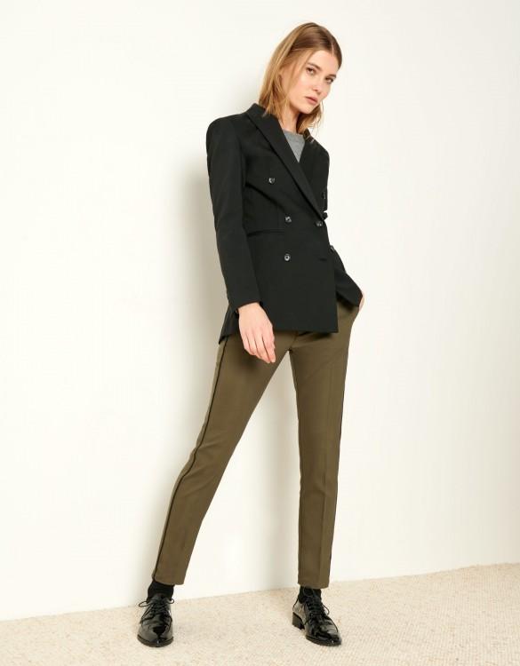 Cigarette Trousers Lizzy Color - KAKI PIPING