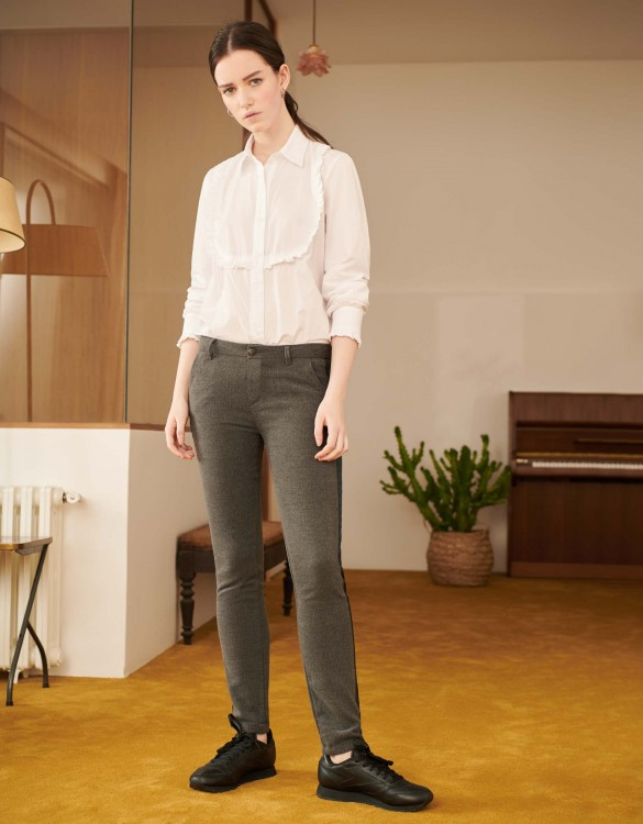 Chino Trousers Sandy Fancy - HERRING GREY