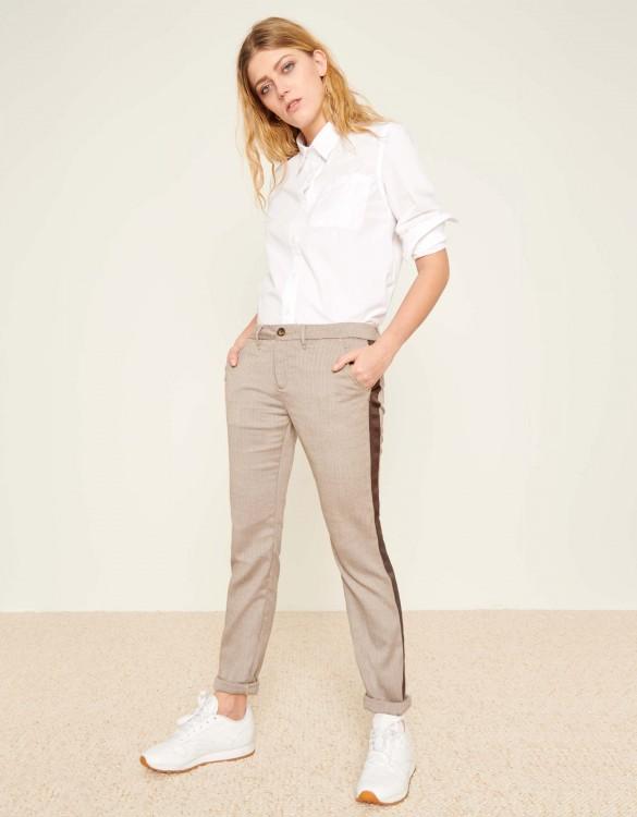 Chino Trousers Sandy Fancy - HERRING BROWN