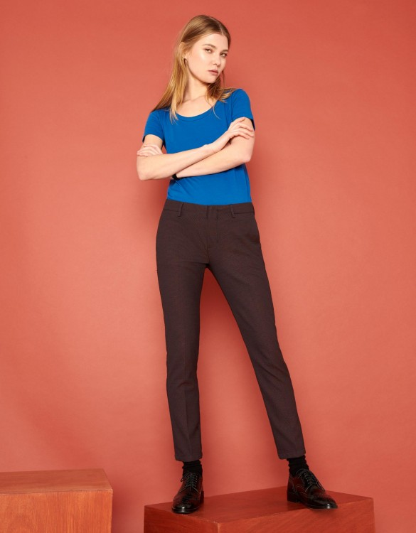 Cigarette Trousers Lizzy Fancy - COPPER DOTS